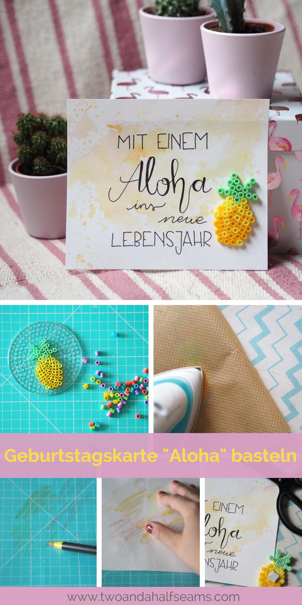 DIY Geburtstagskarte _Aloha_ basteln Ananas