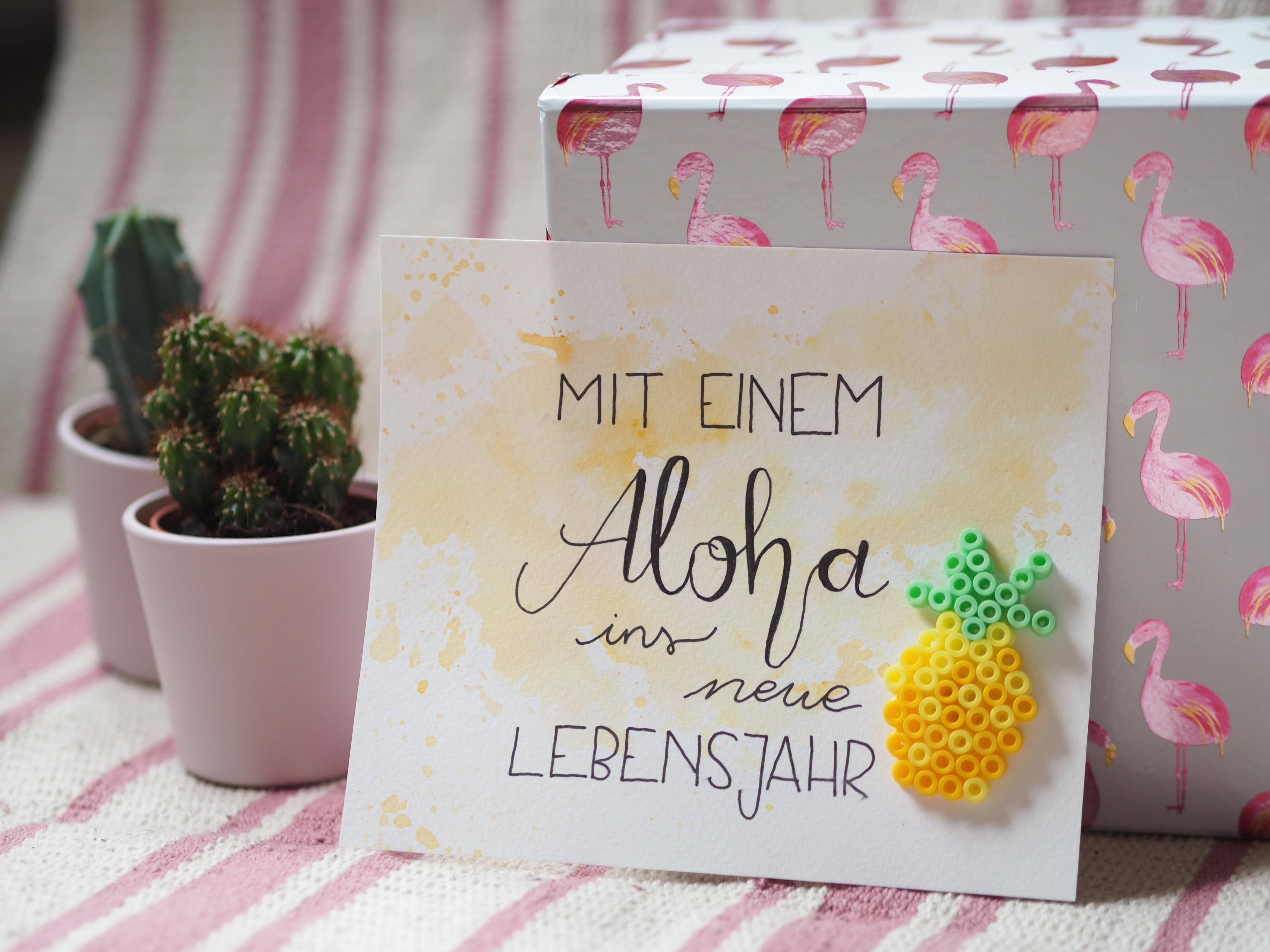 DIY Geburtstagskarte basteln Ananas