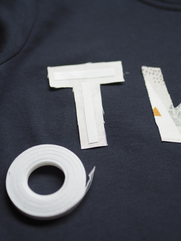 Buchstaben applizieren