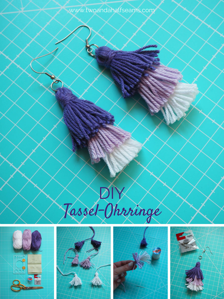 DIY Tassel-Ohrringe